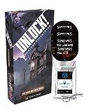 Unlock! - Juego de mesa (3 pegatinas de Escape y 1 adorno de metal), diseño de casa...