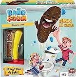 Mattel Games - Baño Boom, Atrapa la Caca, Juego de mesa infantil (FWW30), versiones...
