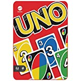 Mattel Games Juego de cartas UNO, Coleccionable, juego de mesa en lata para niños +7...