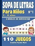 SOPA DE LETRAS: Para Niños 5-8 años | Juegos Educativo | 110 Juegos - 3 niveles de...