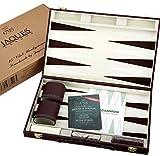 Jaques of London Juego de Backgammon - 15 Pulgadas - Juego de Backgammon de Lujo