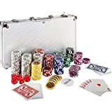 Maxstore Ultimate Pokerset con 300 Chips láser 12 Gramos núcleo de Metal ,...