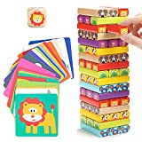 Nene Toys - Torre de Bloques Infantil de Madera 4 en 1 con Colores y Animales –...