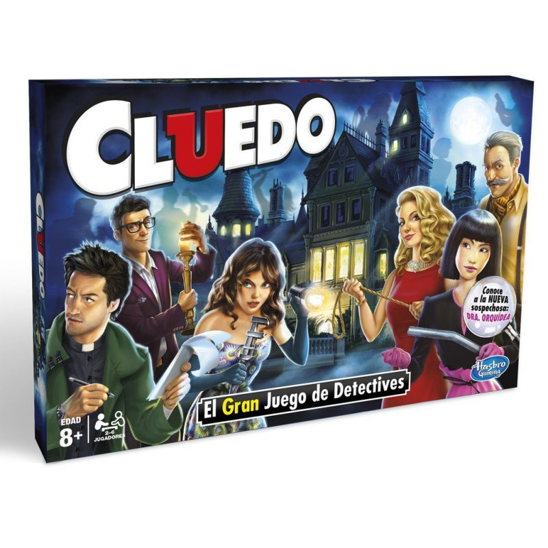Caja del famoso juego de detectives Cluedo