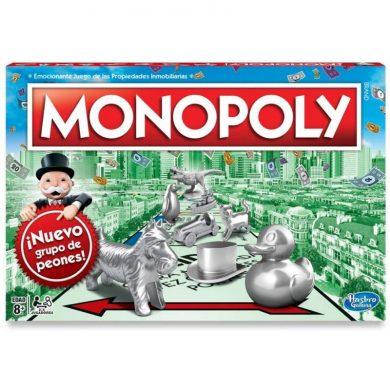 Parte superior de la caja del juego Monopoly