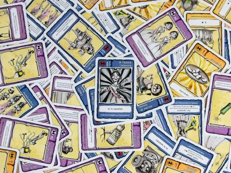 cartas la fallera calavera juego de mesa
