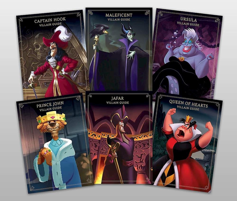 tarjetas de villanos de juego de mesa disney villainous